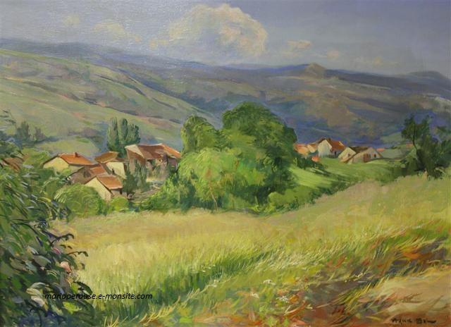 Frank Bal - La vallee de la Dore 1945 51x69