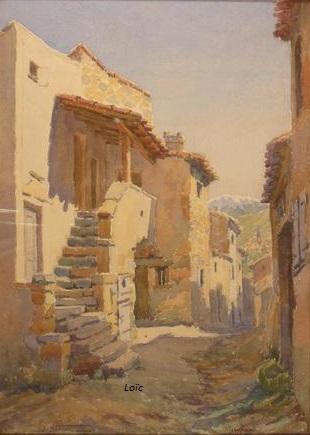 Blanc Joseph vue de mirefleurs aquarelle 45x32
