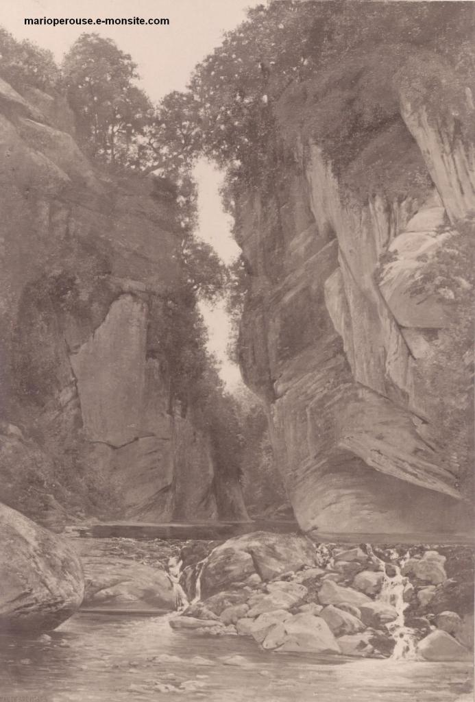 Desbrosses 1888 Le pas de la Cère Cantal
