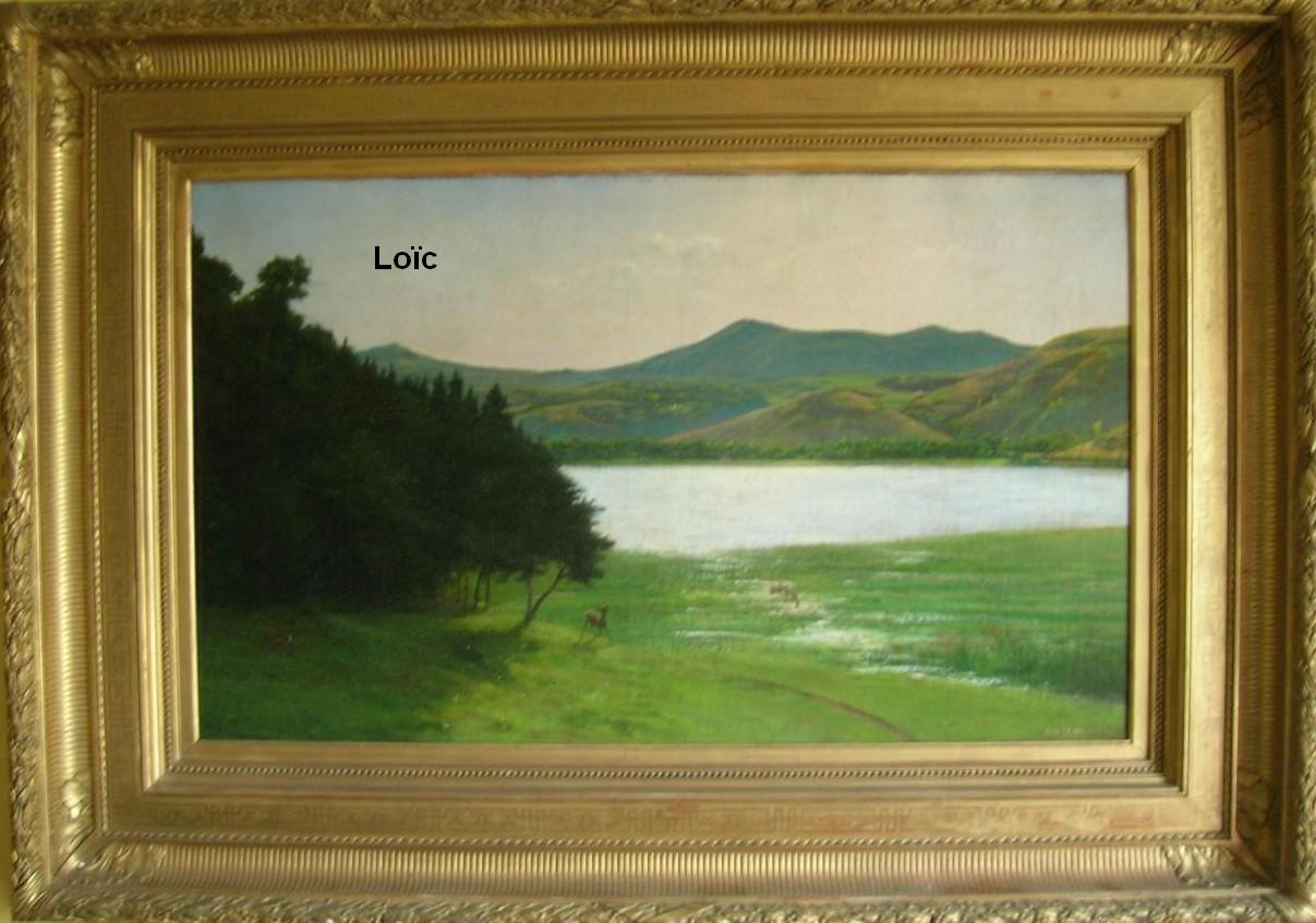 Desbrosses Alfred Jean Le lac Chambon