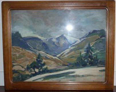 Deverin Le Puy de Sancy 1921 50x65