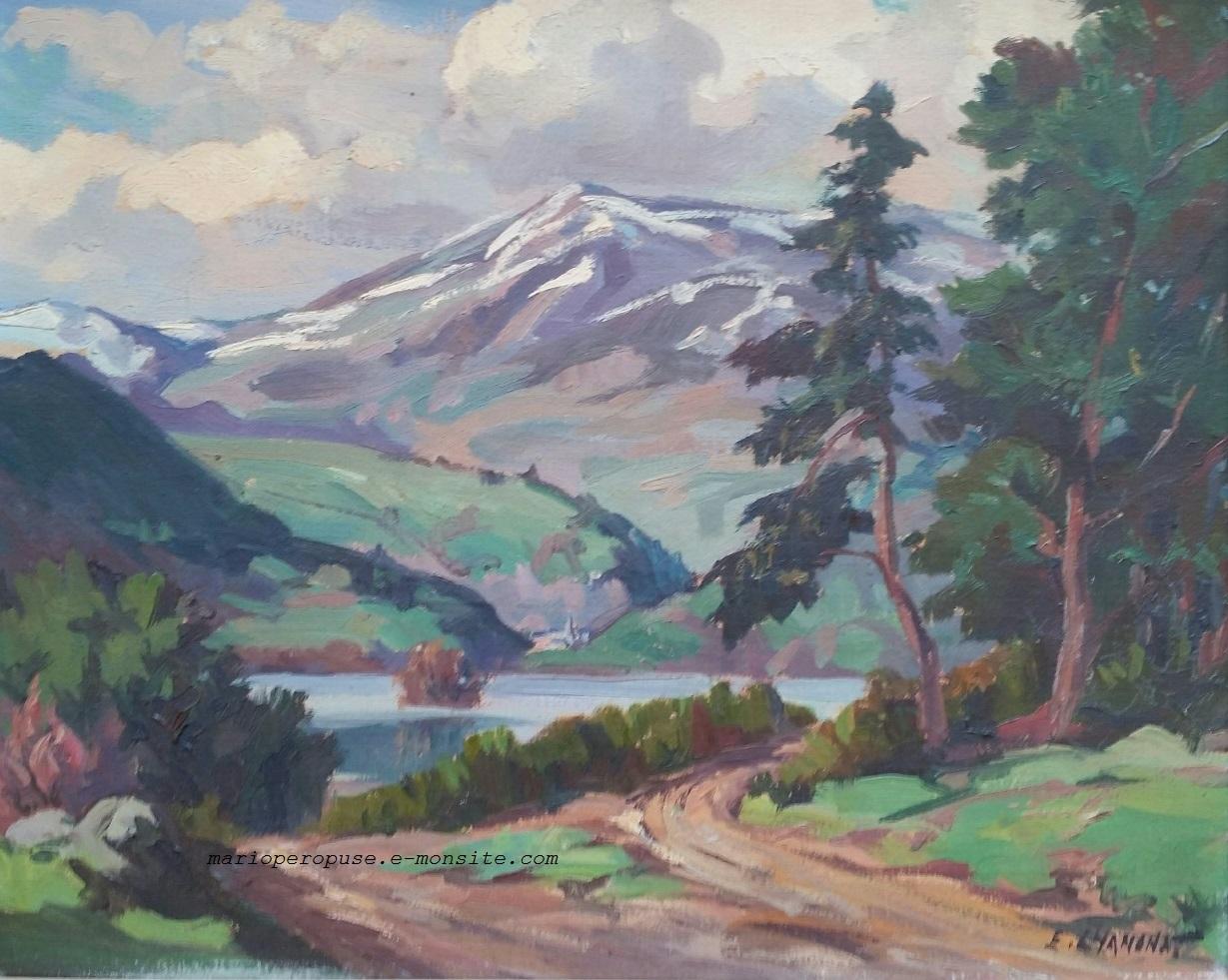 Ernest Chanonat - Lac Chambon