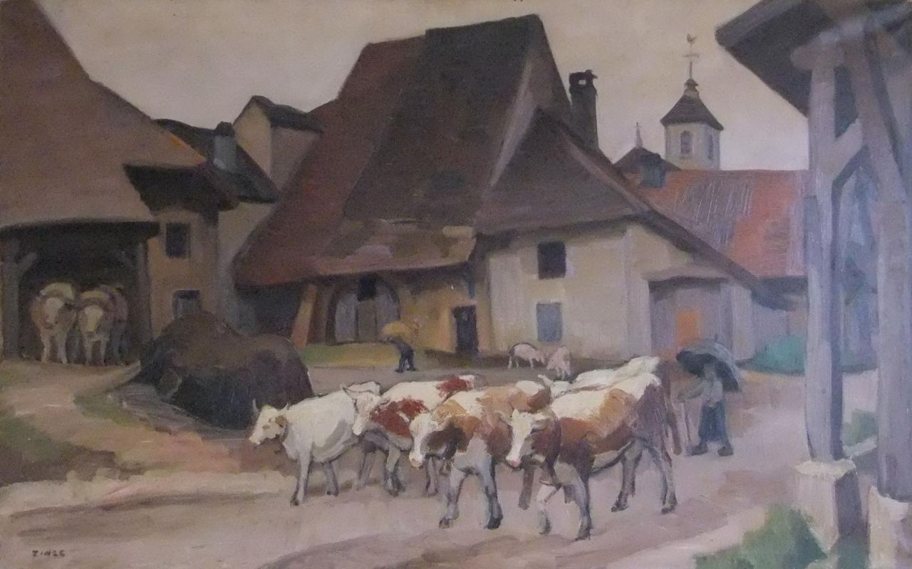 Jules Emile Zingg Les boeufs à Amondans dans le Doubs 1932.jpg