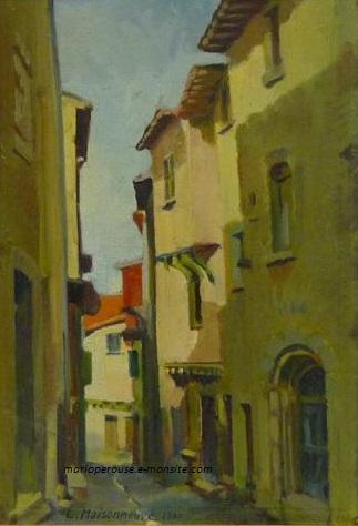 Maisonneuve lucien hsp 1940 vieille rue a billom 45x31