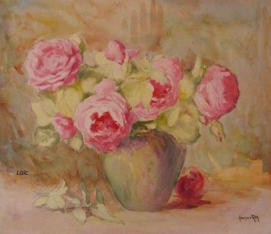 Adolphe Rey bouquet de roses 38x46