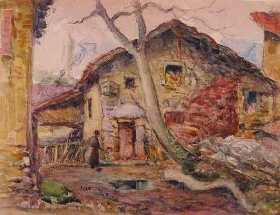Rey 1863 1944 murols anime une villageoise 27x36