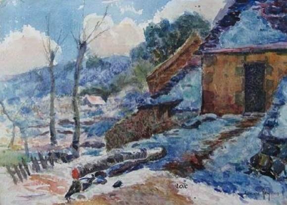 Rey murols sous la neige 23x39