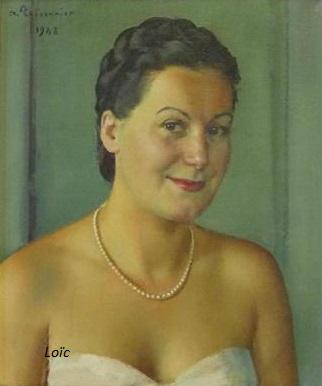Thesonnier portrait 1948 hst 55x48