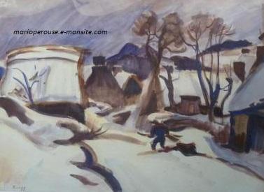 Zingg aquarelle 45x65