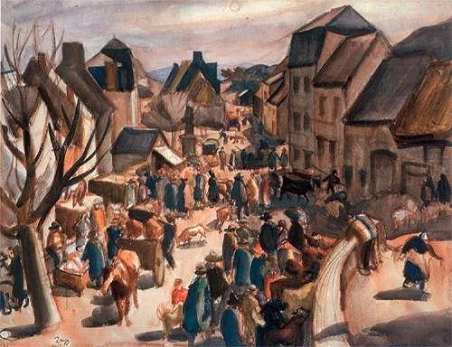 Jules Zingg Le marché à Murols